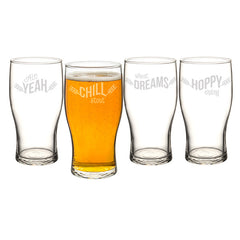 19 oz. Beer Pun Pilsner Glasses
