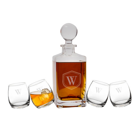 Personalized Tipsy Whiskey Decanter Set