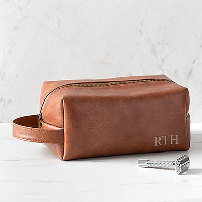 Personalized Vegan Leather Dopp Kit