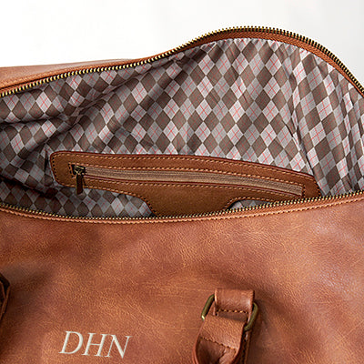 Personalized Vegan Leather Transport Duffle