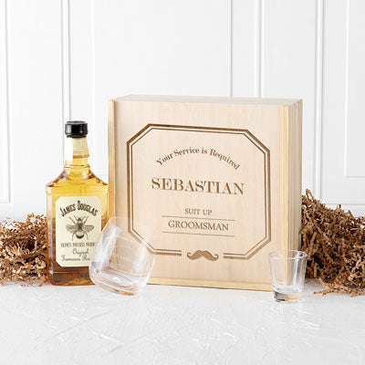 Personalized Groomsmen Spirit Gift Box Set