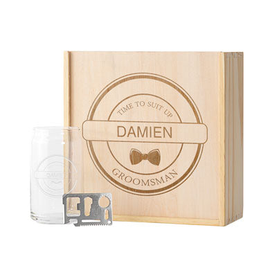 Personalized Groomsman Beer Gift Box Set