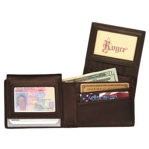 Personalized Nappa  Leather  Removable ID Pass Case Wallet