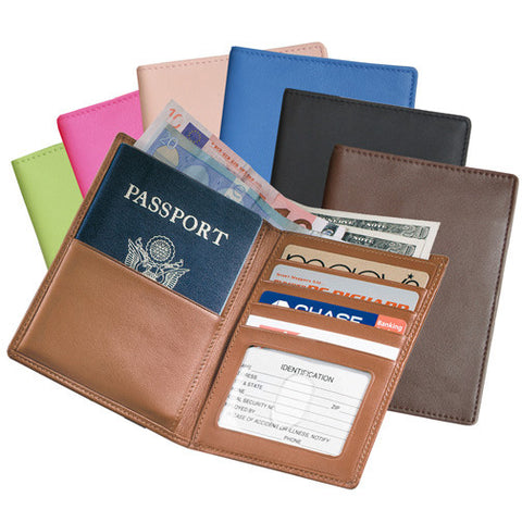 Personalized Nappa Leather Passport Currency Wallet