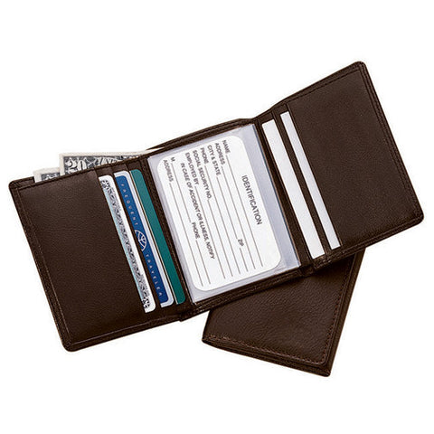 Personalized Nappa  Leather Trifold Wallet