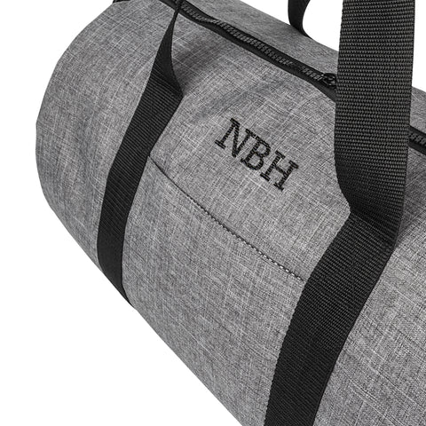 Personalized Grey Duffle