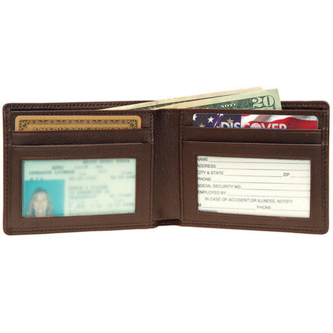 Personalized Nappa  Leather Flat Fold Wallet