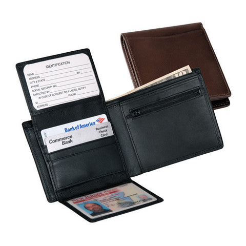 Personalized Nappa  Leather Bi-fold Wallet