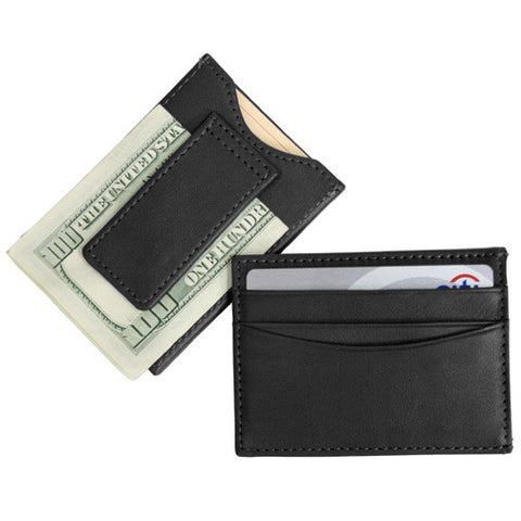 Personalized Nappa Leather Magnetic Money Clip Wallet