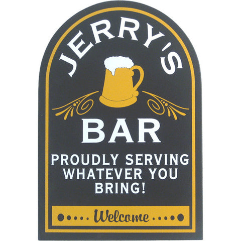 Handcrafted Bar Proudly with Mug Sign