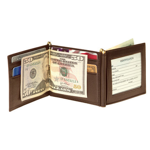 Personalized Nappa Double Money Clip Wallet