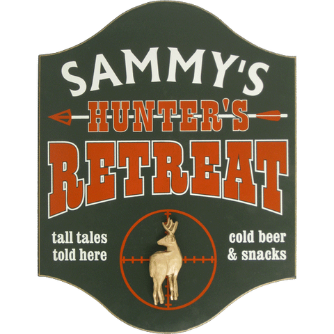 Personalized Pub Sign - Hunter's Retreat with Deer