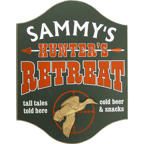 Personalized Pub Sign - Hunter's Retreat with Duck