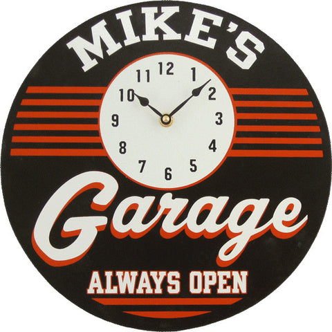 Handcrafted Garage Clock