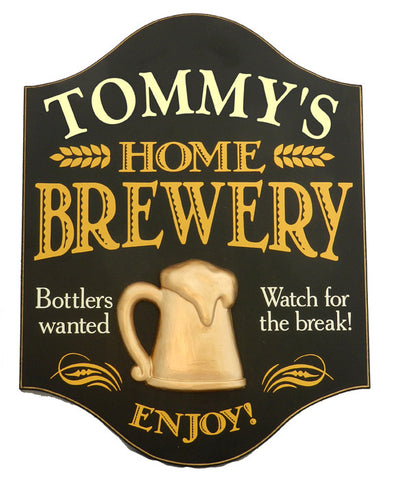 Handcrafted Home Brewery Sign