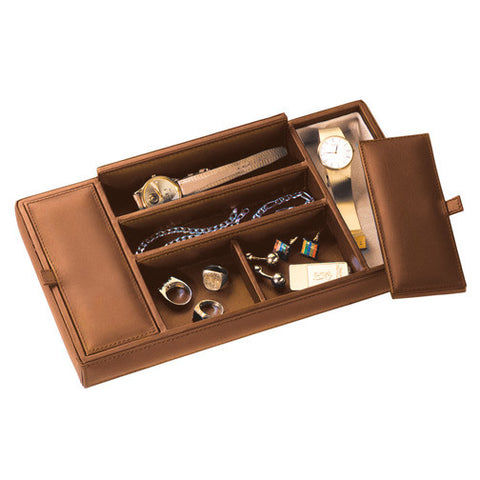 Personalized Milano Top Grain Leather Valet Tray