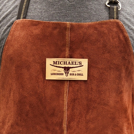 Personalized Leather BBQ Grilling Apron