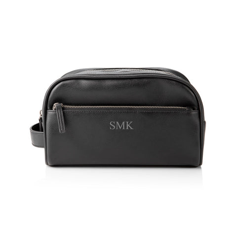 Personalized Double Zipper Vegan Dopp Kit