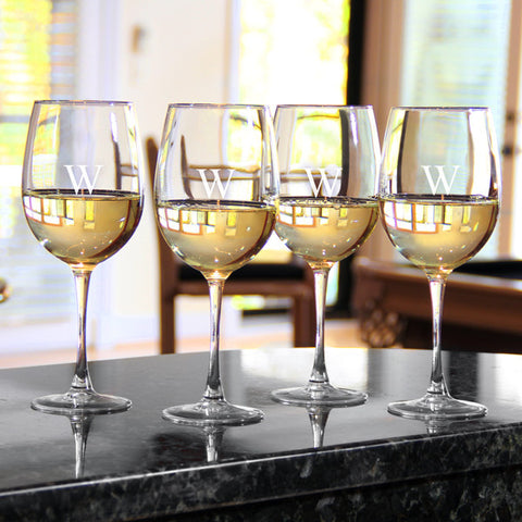 Personalized White Wine Glass Set (Set of 4)