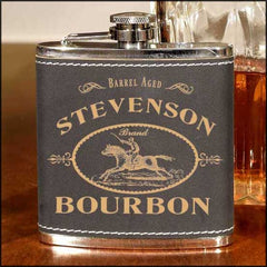 Personalized Leather Flask - Darwin Bros