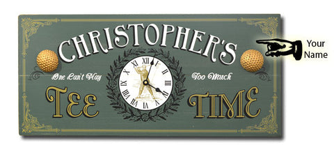 Personalized Tee Time Clock