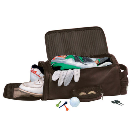 Personalized Nappa Leather Golf Shoe and Accessory Bag