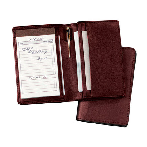Personalized Nappa Leather Deluxe Note Jotter Organizer