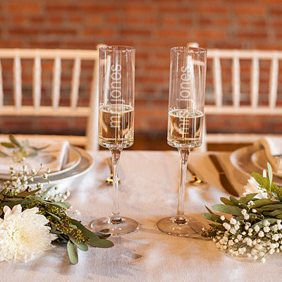 8 oz. Contemporary Champagne Flutes