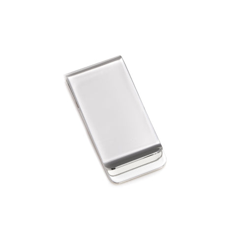 Personalized Silver Plated Money Clip
