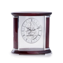 "Luxemburg ""Rosewood"" Skeleton Clock, T.P."