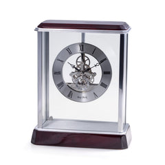 "Madrid Lacquered ""Rosewood"" Quartz Clock"