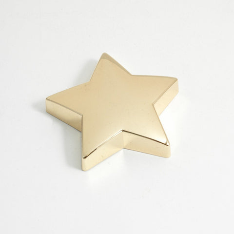Gold Plated Star Paper Weight