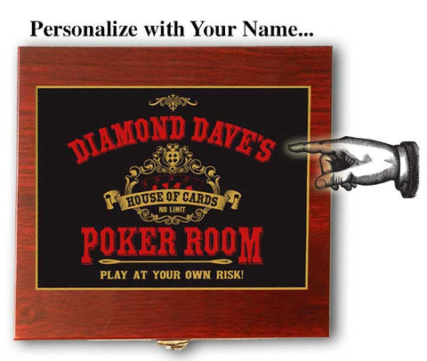 Personalized Flask, Card & Dice Set