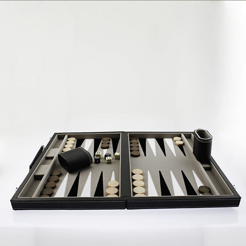 Leatherette Backgammon Set