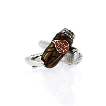 Rhodium Plated Cigar Cufflinks