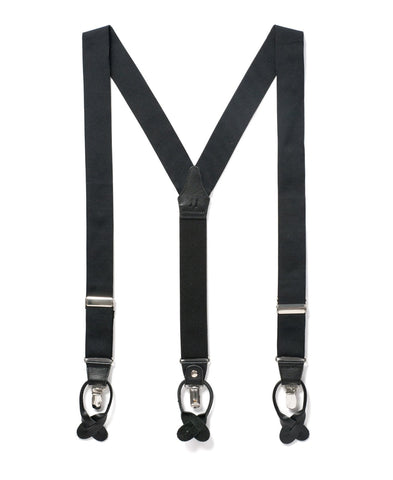 Back to Black - Formal Black Suspenders
