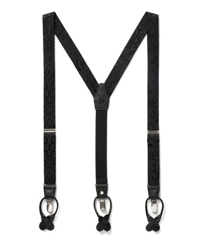 Night Skies - Black Paisley Suspenders