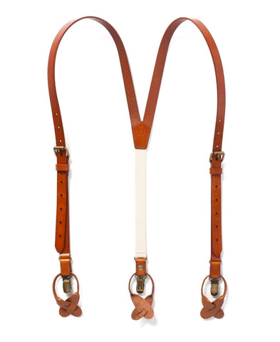 Sierra Nevada - Dark Tan Leather Suspenders