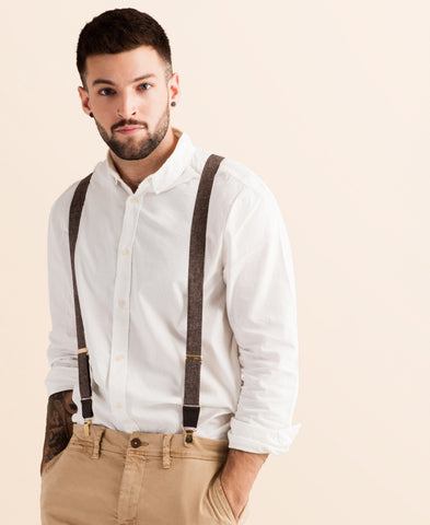 Autumn Harvest - Classic Brown Suspenders