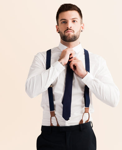 Navy Tides - Classic Navy Suspenders