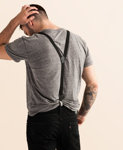 Jet Set - Skinny Black Suspenders