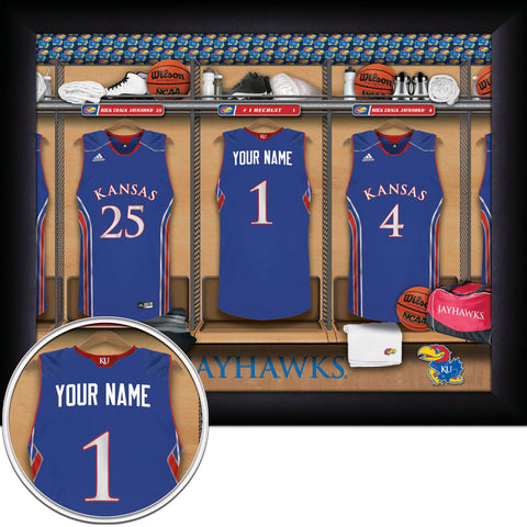 Personalized College Basketball Locker Room Sign - Kansas Jayhawks