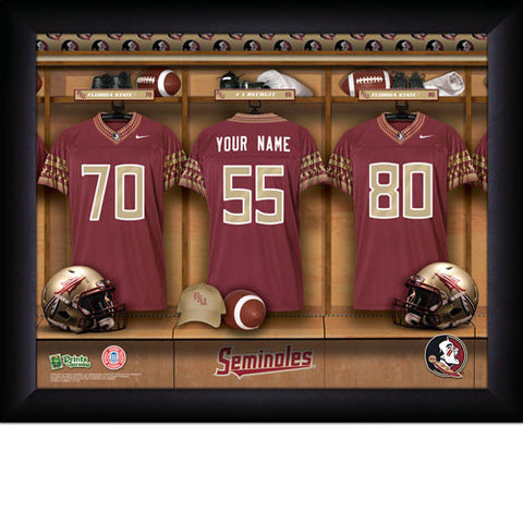 College Football Locker Room Signs with Personalization  - Florida State Seminoles