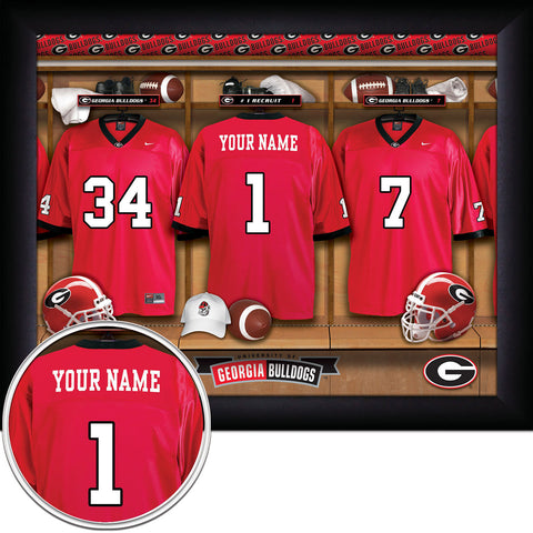 Personalized College Football Locker Room Signs - Georgia Bulldogs