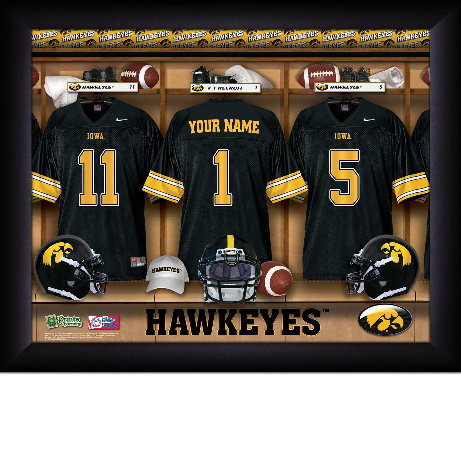 fc4b3054b Personalized College Football Locker Room Sign - Iowa Hawkeyes