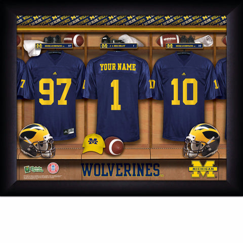 College Football Locker Room Sign with Personalization Michigan Wolverines