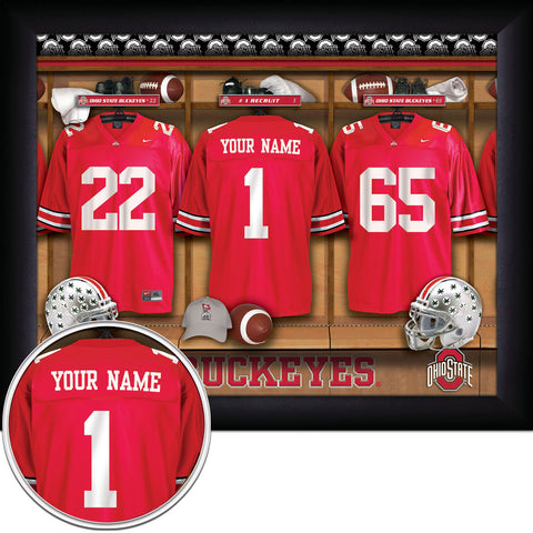 Personalized College Football Locker Room Signs - All Teams