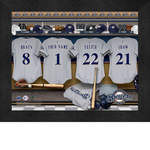 Personalized Milwaukee Brewers MLB Locker Room Sign