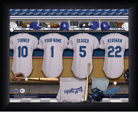 Personalized Los Angeles Dodgers MLB  Locker Room Sign