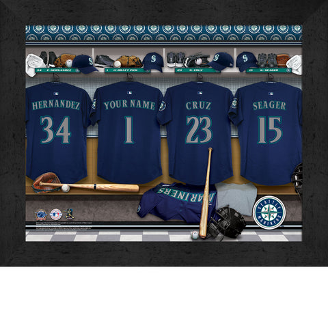 Personalized Seattle Mariners MLB Locker Room Sign